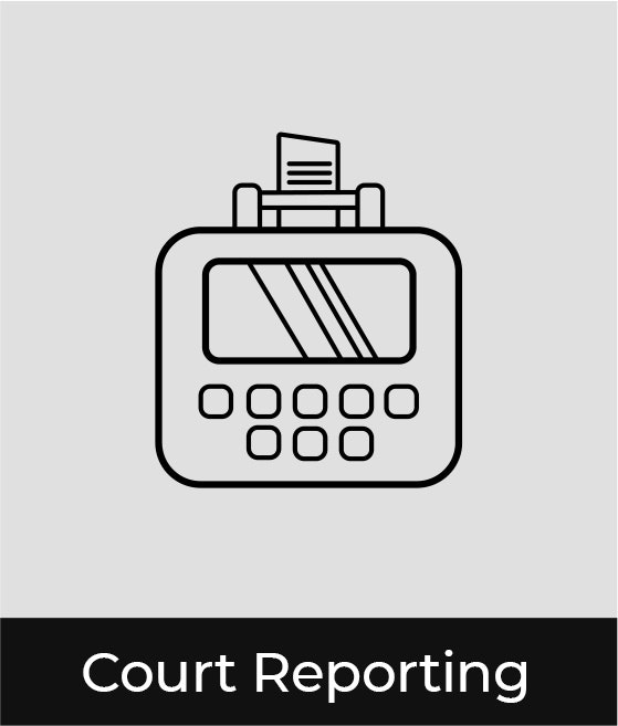 court reporting graphic