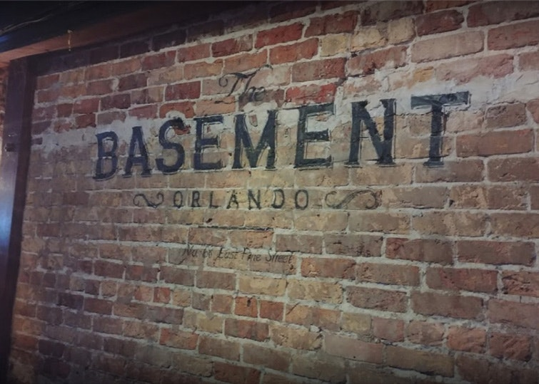 The Basement in Orlando sign