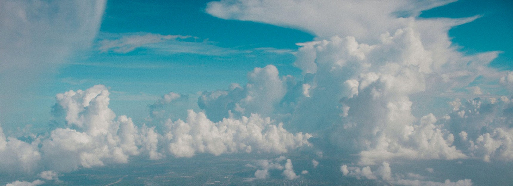 cloudy blue background banner image