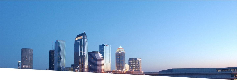 Tampa skyline background image