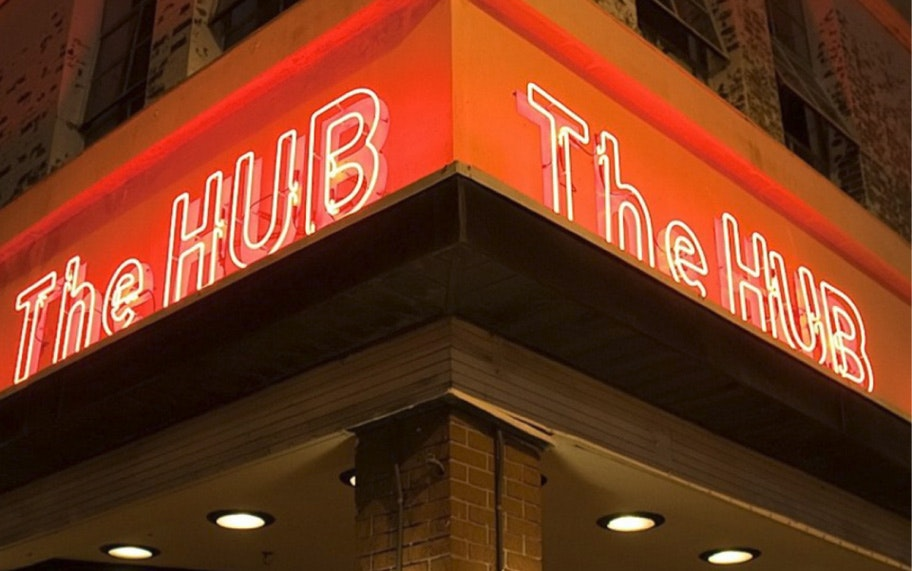 The Hub tampa sign